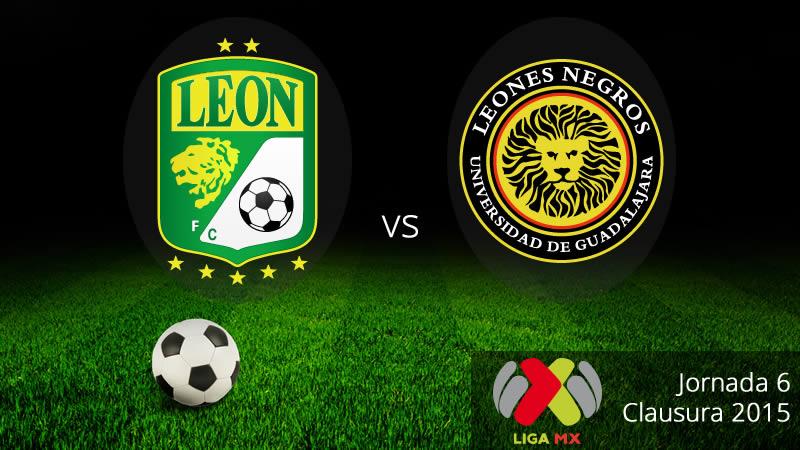León vs UDG en la Jornada 6 del Clausura 2015 - Leon-vs-UDG-en-vivo-Clausura-2015