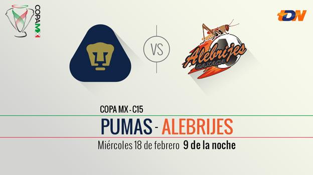 Pumas vs Alebrijes, Copa MX Clausura 2015 (llave dos) - Pumas-vs-Alebrijes-en-vivo-Copa-MX-Clausura-20151