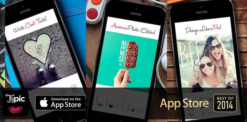 Typic, la app para editar fotos fue la única latinoamericana entre las mejores de Apple en 2014 - Typic-editar-fotos-iphone-ipad