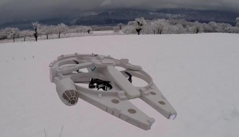 Impresionante drone en forma de halcón milenario - drone-halcon-milenario