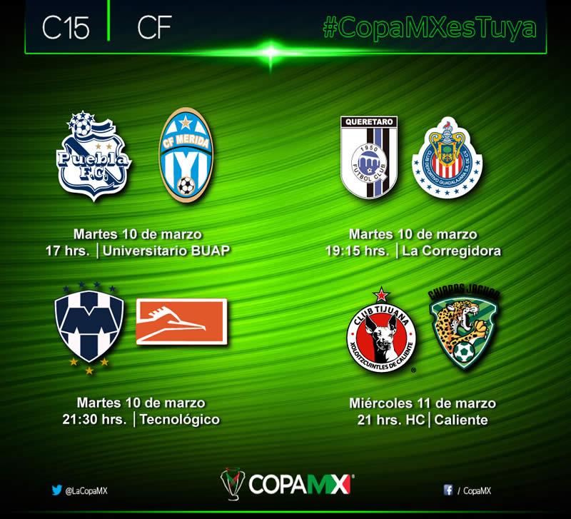 Definidos los cuartos de final de la Copa MX Clausura 2015 y sus horarios - Cuartos-de-final-de-la-Copa-MX-Clausura-2015
