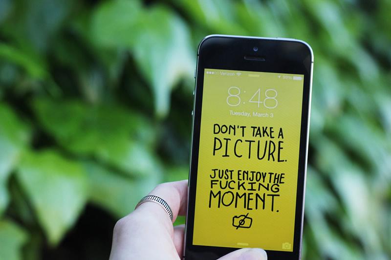 Unos wallpapers para celular que te quitarán la adicción a él
