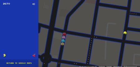 Ahora puedes jugar PAC-MAN en Google Maps