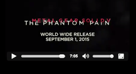 Metal Gear Solid V: The Phantom Pain se estrenará el 1 de septiembre
