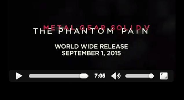 Metal Gear Solid V: The Phantom Pain se estrenará el 1 de septiembre - metal_gear_solid_v_fecha_de_lanzamiento