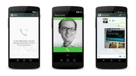 Llamadas a través de WhatsApp ya están disponibles para Android sin invitación