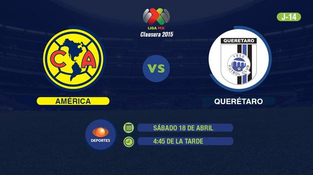 América vs Querétaro, Fecha 14 del Clausura 2015 - America-vs-Queretaro-en-vivo-por-Televisa-Deportes-Clausura-2015