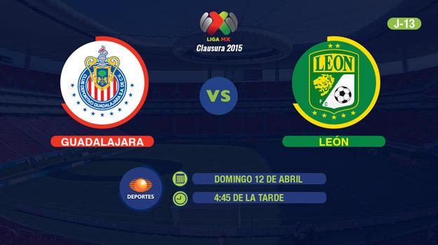 Chivas vs León en el Clausura 2015 - Chivas-vs-Leon-en-vivo-Televisa