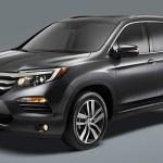 Honda Pilot 2016 quiere conquistar el segmento de SUV de tres filas de asientos - Honda-Pilot-2016-Exterior-Gris