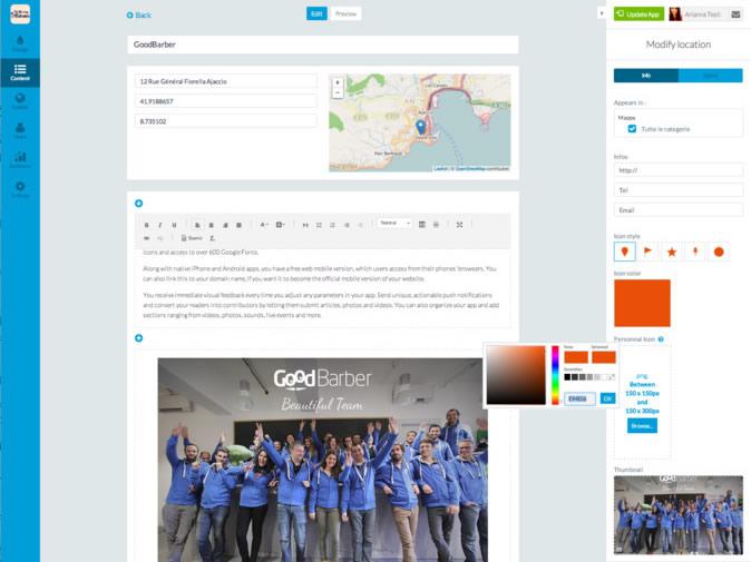 Las novedades de Goodbarber para crear apps robustas ¡Más fácil! - Insertar-Mapas-GoodBarber