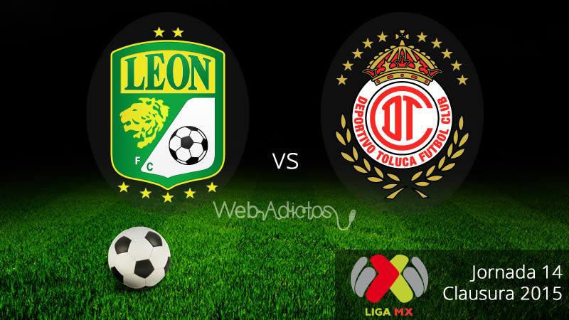 León vs Toluca, Jornada 14 del Clausura 2015 - Leon-vs-Toluca-Clausura-2015