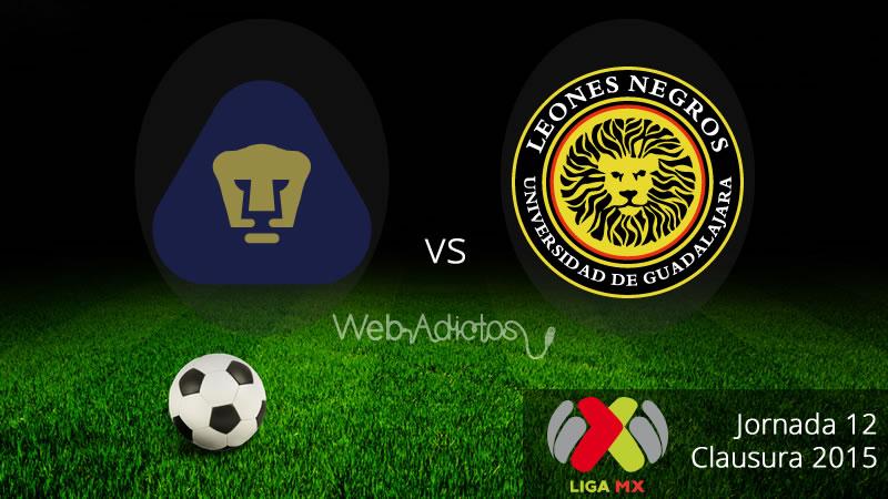 Pumas vs UDG, Jornada 12 del Clausura 2015 - Pumas-vs-Leones-Negros-Clausura-2015