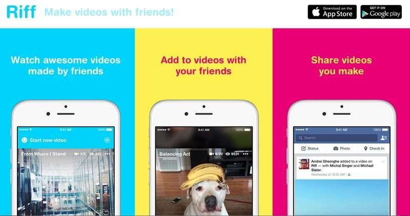 Riff, la app para crear videos en cadena con tus amigos - Riff-app-crear-videos-Facebook-800x422