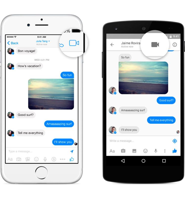 Facebook introduce las videollamadas en Messenger para iOS y Android - messenger-videollamadas-748x800