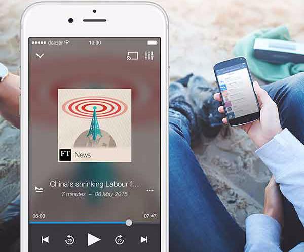 Deezer presenta su servicio de podcasts - Deezer-Podcasts