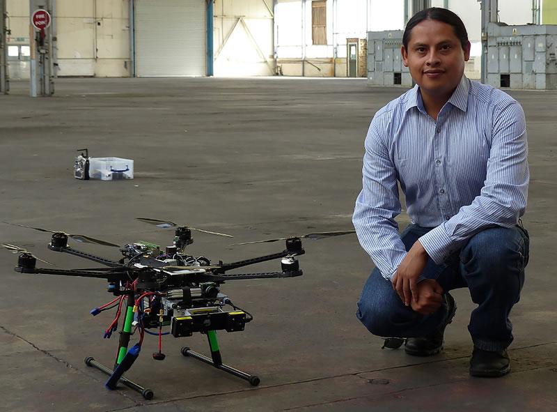 Mexicano crea drones que vuelan de manera autónoma y aprenden nuevas rutas - Mexicano-crea-drones-que-aprenden-nuevas-rutas