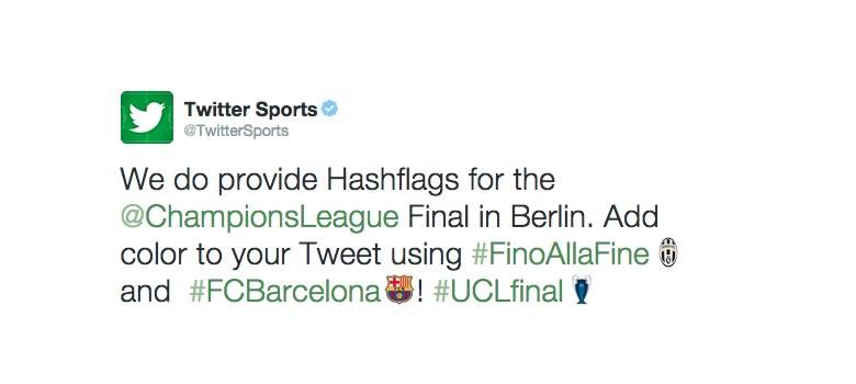 Twitter lanza las hashflags para la final de la Champions ¡Entérate! - Banderitas-Twitter-Final-Champions-League-Hashflags