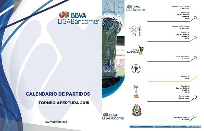 Calendario del Apertura 2015 en la Liga MX es presentado - Calendario-Partidos-Apertura-2015-800x514