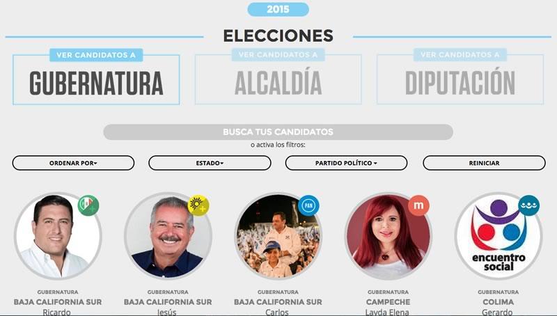 Candidato Transparente Elecciones 2015 Elecciones 2015: Conoce a los candidatos y decide por quién votar