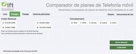 Compara planes de telefonía móvil con el «Comparador de planes» de IFETEL