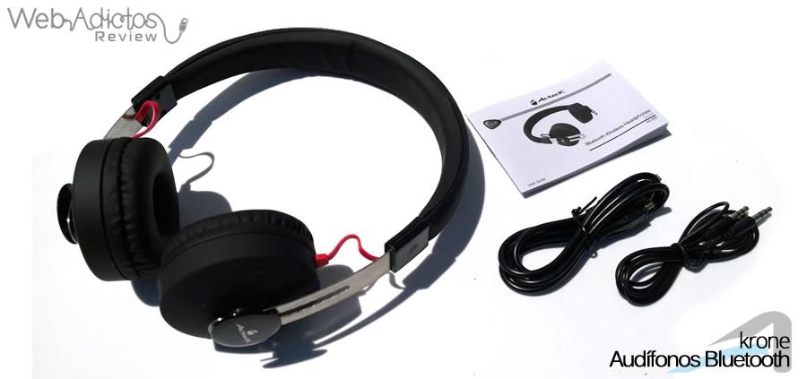 acteck audifonos krone 14 contenido de la caja Audífonos Bluetooth Krone, inalámbricos y multifuncionales