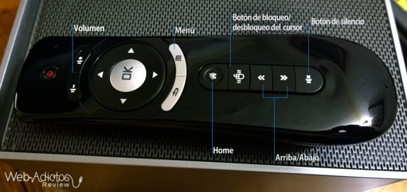 TotoTV Stick 120, Centro de entretenimiento para tu TV - control-del-toto-tv-stick