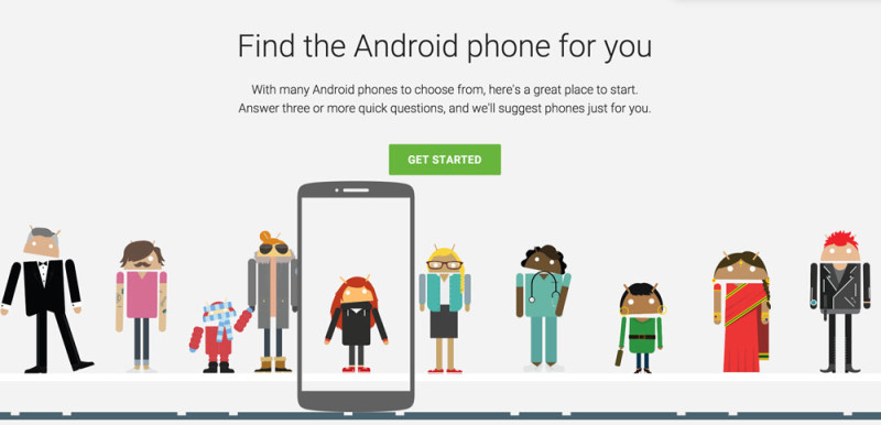 Google te ayuda a elegir tu próximo Android - encontrar-android-elegir-800x386