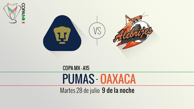 Pumas vs Oaxaca, Copa MX Apertura 2015 - Pumas-vs-Oaxaca-Copa-MX-Apertura-2015