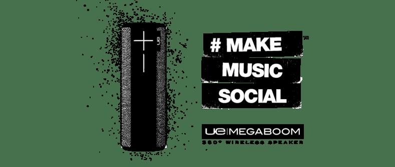 Bocinas Ultimate Ears de Logitech llegan a México - UE-MEGABOOM-MAKE-MUSIC-SOCIAL