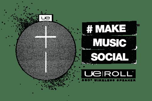 Bocinas Ultimate Ears de Logitech llegan a México - UE-ROLL-MAKE-MUSIC-SOCIAL