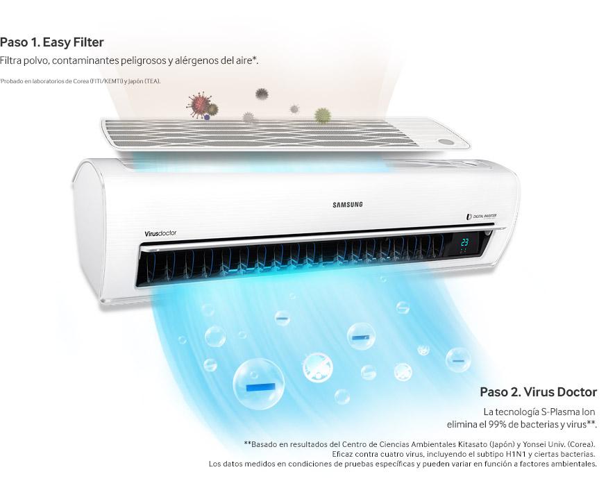 Samsung, lanza nueva línea de aires acondicionados Triangle Design - samsung-elimina-virus-aire-acondicionado