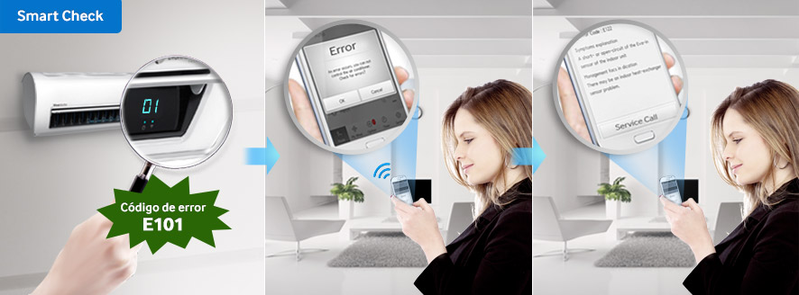Samsung, lanza nueva línea de aires acondicionados Triangle Design - smart-check-samsung