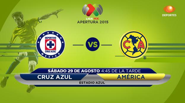 Cruz Azul vs América, clásico en el Apertura 2015   Jornada 7 - Cruz-Azul-vs-America-en-vivo-Televisa-Deportes-Apertrua-2015