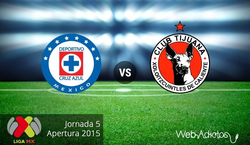 Cruz Azul vs Tijuana, Jornada 5 del Apertura 2015 - Cruz-Azul-vs-Tijuana-Apertura-2015-Jornada-5