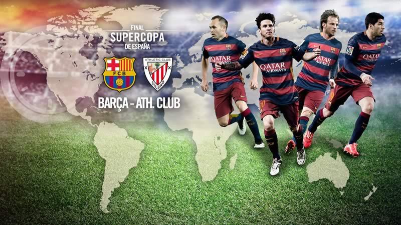 A qué hora juega Barcelona vs Athletic la vuelta de la Supercopa de España - Final-Supercopa-de-Espana-2015-Barcelona-vs-Athletic
