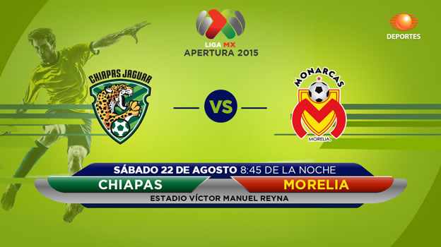 Jaguares vs Morelia, Jornada 6 del Apertura 2015 - Jaguares-vs-Morelia-en-vivo-por-Televisa-Deportes-Apertura-2015