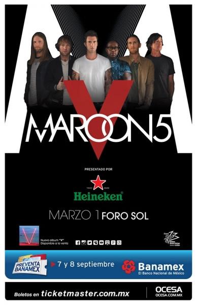 """Maroon 5 llega a México con su gira """"The Maroon V World Tour"""" - Maroon-5-en-Mexico"""
