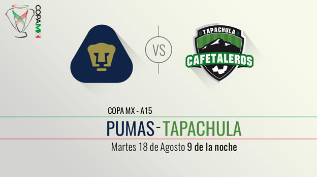 Pumas vs Tapachula, Copa MX Apertura 2015   Llave 2 ida - Pumas-vs-Tapachula-en-vivo-po-TDN-en-internet-Copa-MX