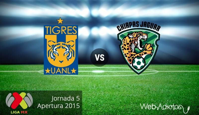 Tigres vs Jaguares en la fecha 5 del Apertura 2015 - Tigres-vs-Jaguares-Chiapas-Apertura-2015-Jornada-5