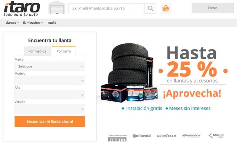 Llega la venta de llantas en línea en México gracias a Ítaro - llantas-en-venta-por-internet-en-Mexico-itaro