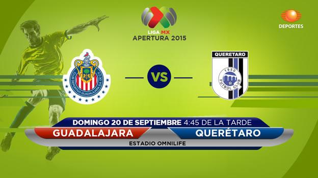 Chivas vs Querétaro, Fecha 9 del Apertura 2015 - Chivas-vs-Queretaro-en-vivo-por-Televisa-Deportes-Apertura-2015