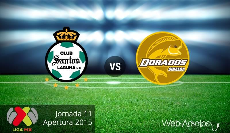 Santos vs Dorados, Jornada 11 del Apertura 2015 - Santos-vs-Dorados-Apertura-2015