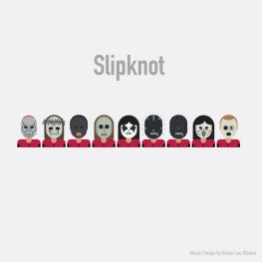Estrellas de la industria musical se vuelven emojis - Slipknot