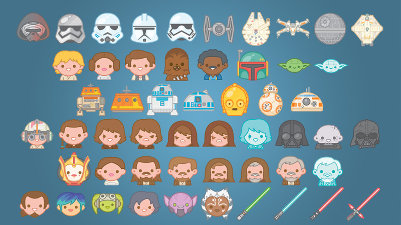Star Wars lanza una plantilla de emojis para iOS - Star-Wars-Emojis-800x449