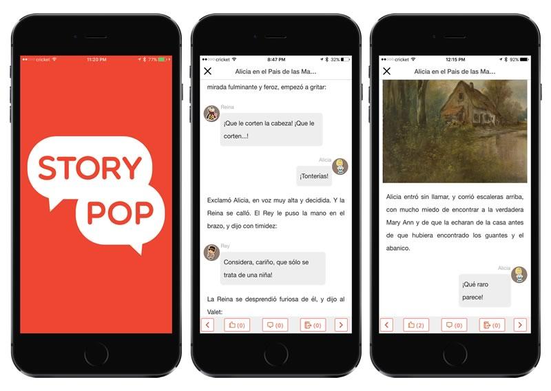 StoryPop, una nueva y divertida forma de leer en tu smartphone - StoryPop