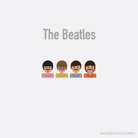 Estrellas de la industria musical se vuelven emojis - The-Beatles-Emoji