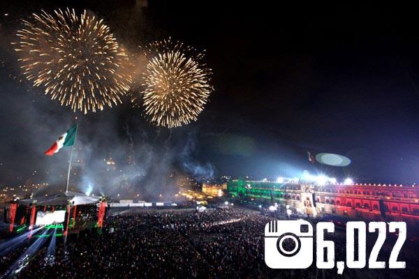 Así festejan los mexicanos en Instagram: Los 10 monumentos más fotografiados - Zocalo