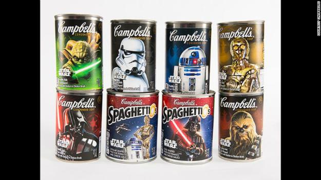 Lanzan la nueva línea de juguetes de 'Star Wars' - campbells_star_wars