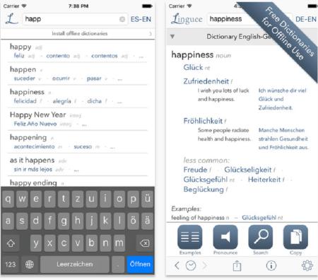 Linguee lanza diccionario móvil para iOS 9 con más de 2 millones de entradas