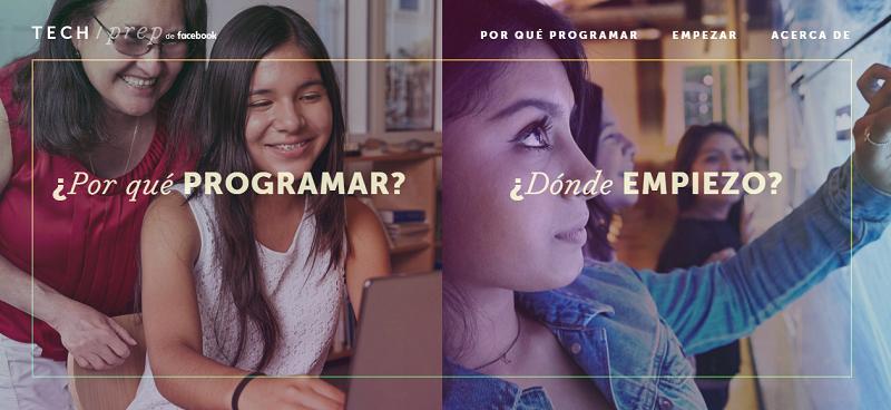 Facebook lanza sitio web que enseña a hispanos a programar - captura-de-pantalla-2015-10-24-21-37-47-800x368